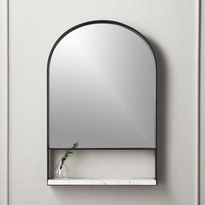 "Hugh Mirror with Marble Shelf  24""x36.25"" - CB2"