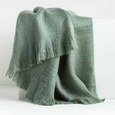 Loren Dark Ivy Throw - Crate and Barrel