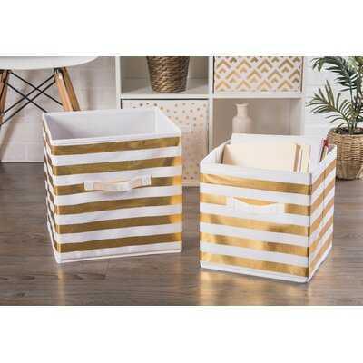 Stripe Nonwoven 2 Piece Fabric Cube Set - Wayfair