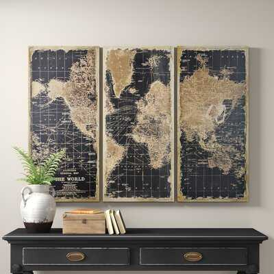 Stanford World Map 3 Piece Graphic Art Set - Birch Lane