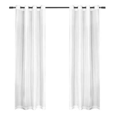 andish Solid Semi-Sheer Grommet Curtain Panels - AllModern