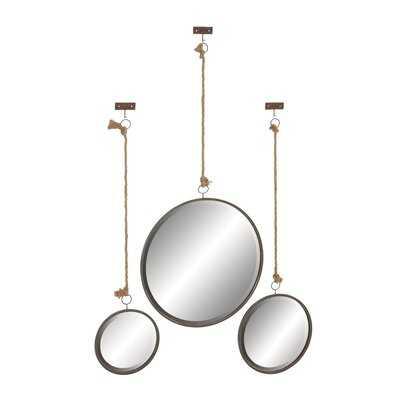 Cline 3 Piece Coastal Wall Mirror Set - Wayfair