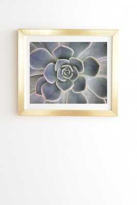 "Succulent Leaves by Magda Opoka - Framed Wall Art Basic Gold 11"" x 13"" - Wander Print Co."