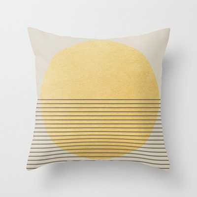 "Sun Minimal Couch Throw Pillow by Georgiana Paraschiv - Cover (18"" x 18"") with pillow insert - Outdoor Pillow - Society6"
