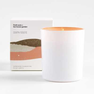 Fresh Yuzu and Teahouse Garden Scented Candle - Crate and Barrel