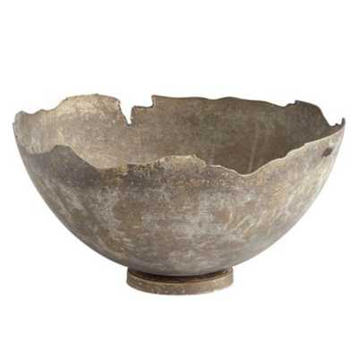 Nelia Industrial Loft Grey Iron Bowl - Small - Kathy Kuo Home