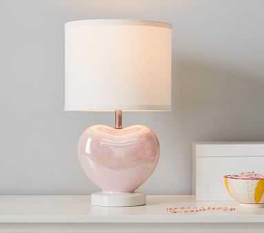 Iridescent Heart Table Lamp - Pottery Barn Kids