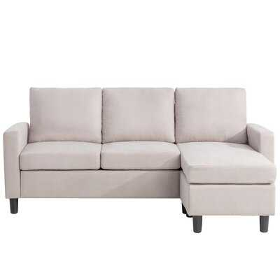 "Andrey 77.55"" Reversible Modular Sofa & Chaise with Ottoman - Wayfair"