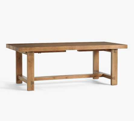 """Reed Extending Dining Table, Antique Umber, 83"""" - 115""""L - Pottery Barn"""