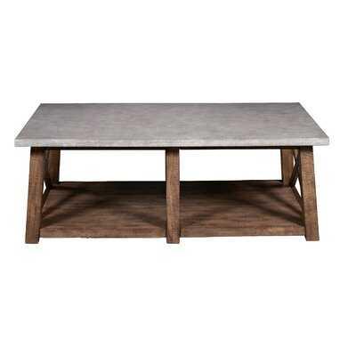 Meredith Solid Wood Cross Legs Coffee Table with Storage - Wayfair