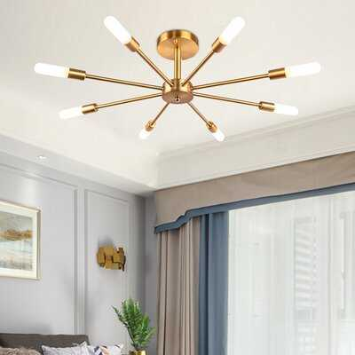 "Melorse 8-Light 28.34"" Sputnik Sphere Semi Flush Mount - Wayfair"