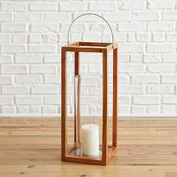 Simple Wood Lanterns, Extra Large, Teak - West Elm