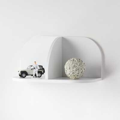 White 4-Way Shelf - Crate and Barrel