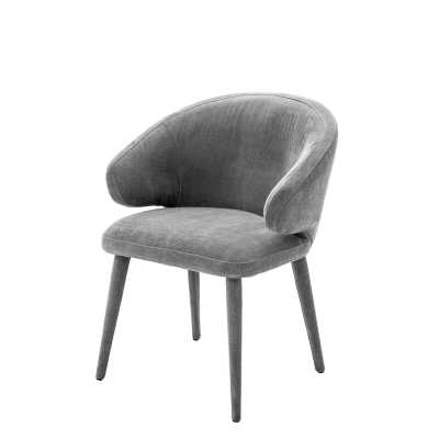 Cardinale Upholstered Dining Chair Upholstery Color: Gray, Leg Color: Gray - Perigold