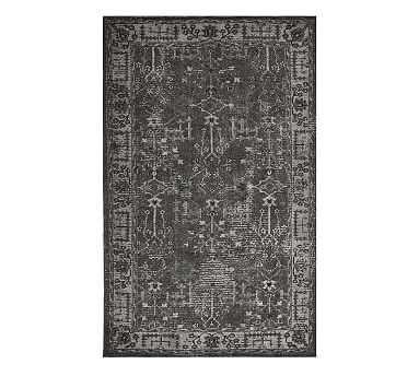 Reeva Printed Rug, Charcoal Multi, 8 x 10' - Pottery Barn