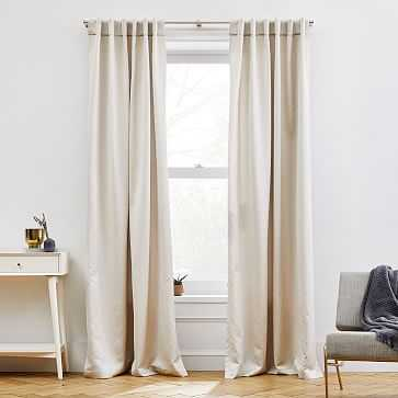 "Ripple Jacquard Curtain, Simple Taupe, 48""x84"", One Panel - West Elm"