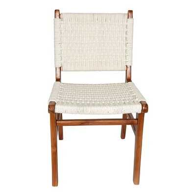 Hadlock Solid Wood Side Chair in White - Wayfair