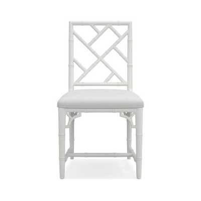 Chippendale Bistro Side Chair, White - Williams Sonoma