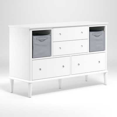 Kids White Sycamore Wide Dresser - Crate and Barrel