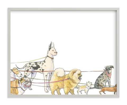 Walking Dogs Children's Art Print - Minted
