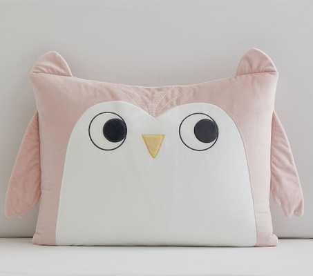 Owl Cuddle Standard Pillow Case, Pink, Pillowcase - Pottery Barn Kids