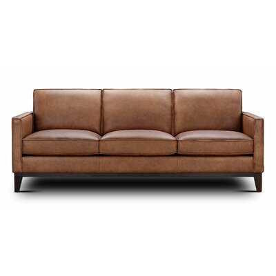 Zoticus Genuine Leather 86'' Square Arm Sofa - Wayfair