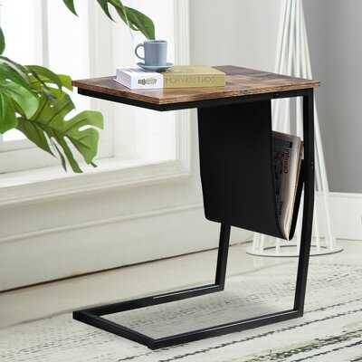 C-Shape Side Table Coffee Desk - Wayfair
