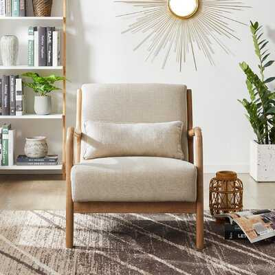 "Kinsella 26"" W Linen Lounge Chair - Wayfair"
