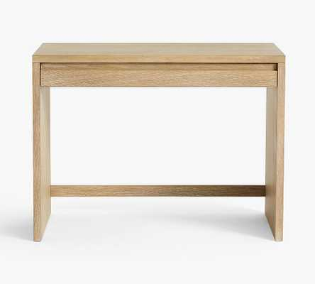 "Pacific 40"" Desk with Drawer, Fog - Pottery Barn"