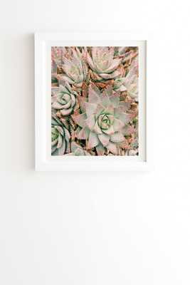 "Succulent by Bree Madden - Framed Wall Art Basic White 8"" x 9.5"" - Wander Print Co."