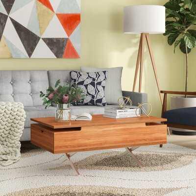 Denson Melamine Veneer Wood Hidden Storage Lift Top Coffee Table - Wayfair