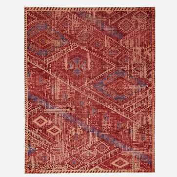Hand Knotted Triangle Motif Rug, 8'x10', Multi - West Elm
