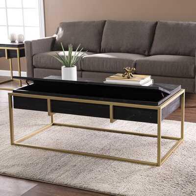 Martindale Frame Coffee Table with Storage - Wayfair