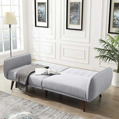 Sofa Couch Bed, Convertible Sofa Sleeper In Rich Linen, Sturdy Wooden Legs And Tufted Design - Wayfair