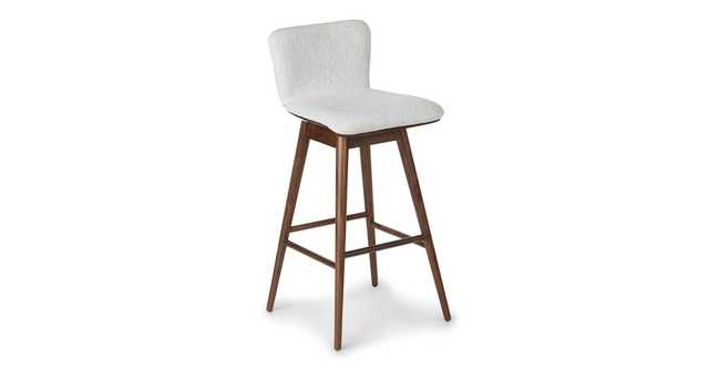 Sede Mist Gray Walnut Swivel Bar Stool - Article