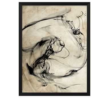 "Smoke Swirl 1 Framed Print, 16"" x 21"" - Pottery Barn"