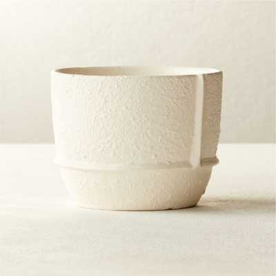 Theory Small White Textured Planter - CB2