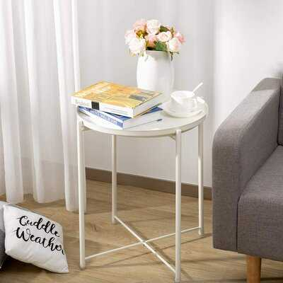 Munise Tray Top Cross Legs End Table - Wayfair
