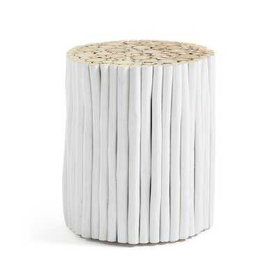 Donora Solid Wood Drum End Table - Wayfair