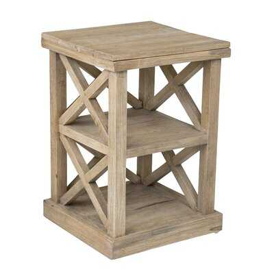 Haralson Solid Wood End Table with Storage - Wayfair