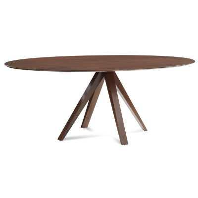 "Nova Ellipse Dining Table Color: Walnut, Size: 29"" H x 70"" L x 36"" W - Perigold"
