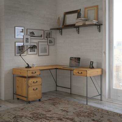 Ironworks L-Shape Desk - Wayfair