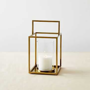 Simple Metal Lanterns, Small, Brass - West Elm