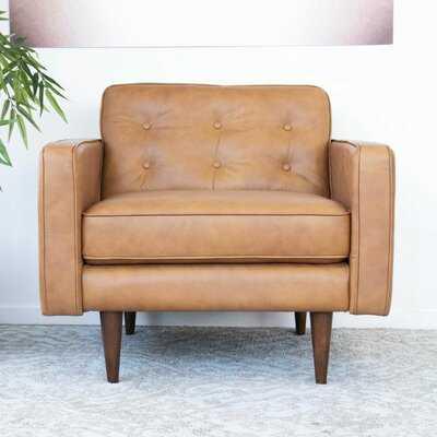 """Mance 34"""" W Tufted Top Grain Leather Armchair - Wayfair"""