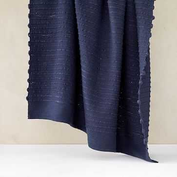 "Soft Corded Throw, 50""x60"", Midnight - West Elm"