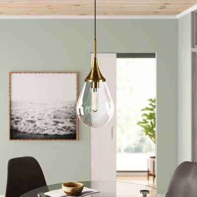 Kase 1 - Light Single Teardrop Pendant - AllModern