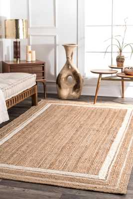Braided Rikki Border Jute Area Rug - Loom 23