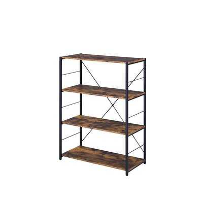 Open Frame 5-Tier Bookshelf In Weathered Oak And Black Finish - Wayfair