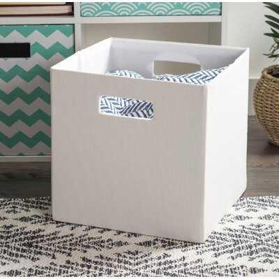 Cube Solid Fabric Polyester Bin - Wayfair