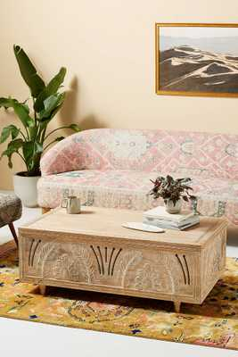 Handcarved Lovella Trunk Coffee Table - Anthropologie